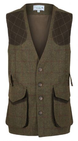 Blenheim Wool Blend Tweed Shooting Gilet Waistcoat Traditional Tailored Quality